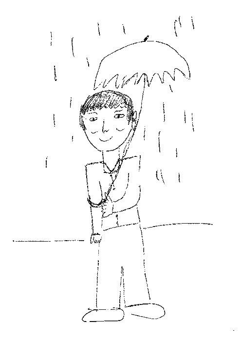 Test de psicologapersonalidad rorschach hombre bajo la lluvia